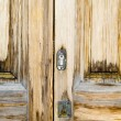 Closeup wood door with textured material — Lizenzfreies Foto