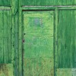 Royalty-Free Stock Photo: Green rusty door