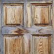 Stock Photo: Rustic wooden door, spanish style