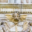 Stock Photo: Lion head, facade of University of Alcalde Henares, Madrid, Spain