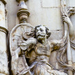 Stock Photo: Warrior, facade of University of Alcalde Henares, Madrid, Spain
