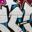 Segment of graffiti wall background, urbstreet grunge art des — Stock Photo #10113232