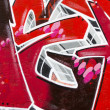 Red background picture of urbgraffiti wall — Stock Photo #10113325