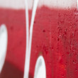 Crazy Red Graffiti perspective with depth of field - Stock Photo
