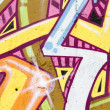 Colorful segment of a graffiti, spanish urban art — Stock Photo #10113447