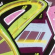 Colorful Graffiti wall urban art hip hop background, writting - Stok fotoraf