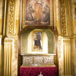 Golden Chapel, figures and paintings of gothic style - Stock Photo