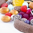 Many candy on white background.Fruit snacks - ストック写真