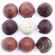 A collection of mixed chocolates and truffles — Stock Photo #10113843