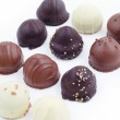 A collection of mixed chocolates and truffles — Stock Photo #10113867