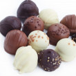 A collection of mixed chocolates and truffles — Stock Photo