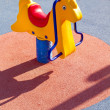 Stock Photo: Amusement park, horse toy