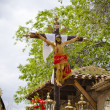 Stock Photo: Typical spanish easter celebration procession of the christ of m
