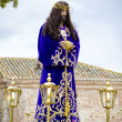 Stock Photo: Spanish easter celebration procession of christ of medinacel