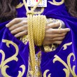 Stock Photo: Procession of the christ of medinaceli, hands details