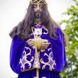 Spanish easter celebration procession of the christ of medinacel - ストック写真