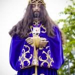 Spanish easter celebration procession of the christ of medinacel — Stock Photo