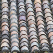 Stock Photo: Antique roof tiles, spain architecture
