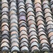 Antique roof tiles, spain architecture - Zdjęcie stockowe