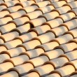 Stock Photo: New roof tiles close up detail