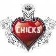 Chicks heart — Stock Photo