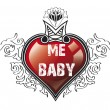 Heart my baby — Stock Photo
