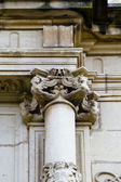 Corinthian column capital , facade of the University of Alcala de Henares, Madrid, Spain — Stock Photo
