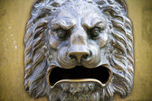 Lion sculpture, decoration for building ,whishes bas-relief — Stock Photo