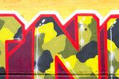 Urban graffiti close-up, may be used as background — Stock Photo