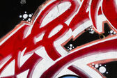 Background image of a urban grafitti wall in red — Stock Photo