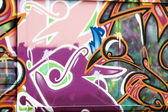 Colorful segment of a graffiti in Spain — Stock Photo