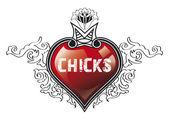 Chicks heart — Stock Photo