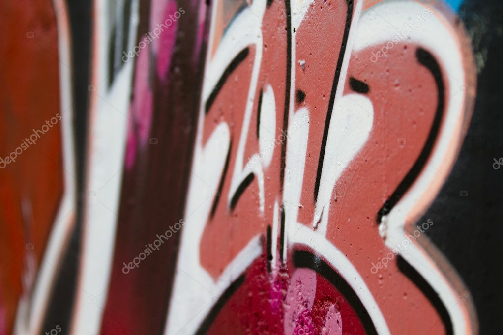 Urban grafitti art on the wall of a building, 2012 year — Stock Photo #10113400