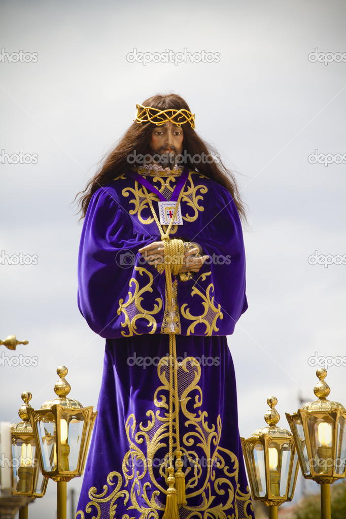 Spanish easter celebration procession of the christ of medinaceli — Stock Photo #10113935