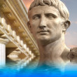Постер, плакат: Statue of Julius Caesar Augustus in Rome Italy Ancient Art ref