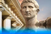 Statue of Julius Caesar Augustus in Rome, Italy Ancient Art ref — Stock Photo