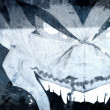 Vampire over old dirty wall, urban hip hop background Gray textu - 图库照片