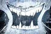 Vampir über alte schmutzige mauer, urban hip hop hintergrund grau texture — Stockfoto
