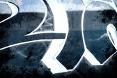 Signs over old dirty wall, urban hip hop background Gray texture — Stock Photo