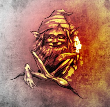 The gnome match pictures to pin on pinterest tattooskid for Garden gnome tattoo designs