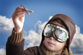 Playing to be a professional pilot — Stock Photo