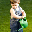 Little baby gardener - Stock Photo