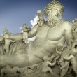 Sculpture of the god Zeus and his children, classic Greek art — Stock Photo #8664652