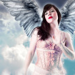 Sweet angel, over cloud background. — Stock Photo #8664709