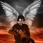 Dark angel with big wings, apocalipsis — Stock Photo #8664833