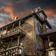 Foto de Stock  : Delighted house, mansion of terror