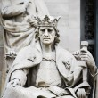 King of Stone, sculpture of the King Alfonso X Wise — Foto de Stock