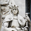 King of Stone, sculpture of the King Alfonso X Wise - ストック写真