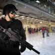 Defending the airports from terrorist attacks - Stock Photo