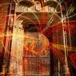 Royalty-Free Stock Photo: Mystic gate of a Cathedral. Conceptual design